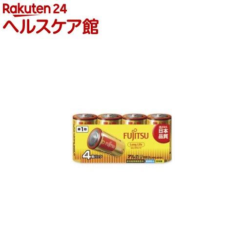 富士通 アルカリ乾電池 単1 4本パック ロングライフ(1セット)