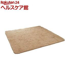 イケヒコ フィリップ ラグマット 200*250cm ベージュ 床暖、ホットカーペット対応(1枚入)