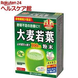 山本漢方 大麦若葉粉末100% スティックタイプ(3g×22パック)【山本漢方 青汁】