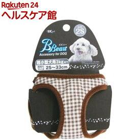 ビビュードッグ プチチェックソフト胴輪 2S 茶 PC-SH2S.BD/BR(1コ入)【ビビュー】