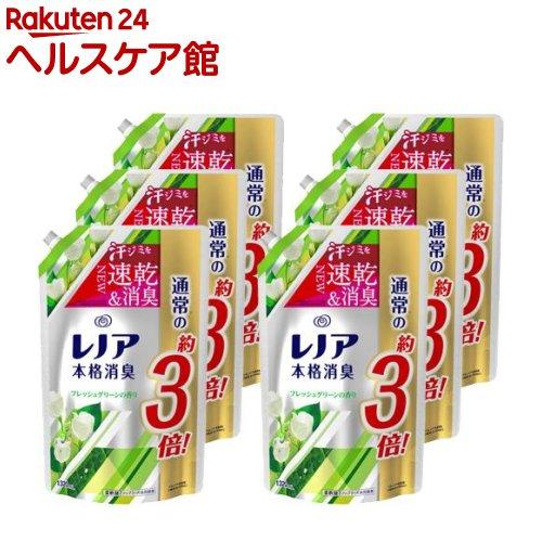 レノア 本格消臭 フレッシュグリーンの香り つめかえ用超特大サイズ(1320mL*6コセット)【レノア】