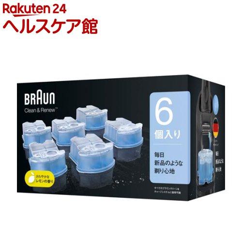 ブラウン クリーン&リニューシステム専用 洗浄液 カートリッジ CCR6(6コ入)【ichino11】【ブラウン(Braun)】【送料無料】