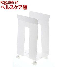 ダンボール&紙袋ストッカー フレーム ホワイト(1コ入)