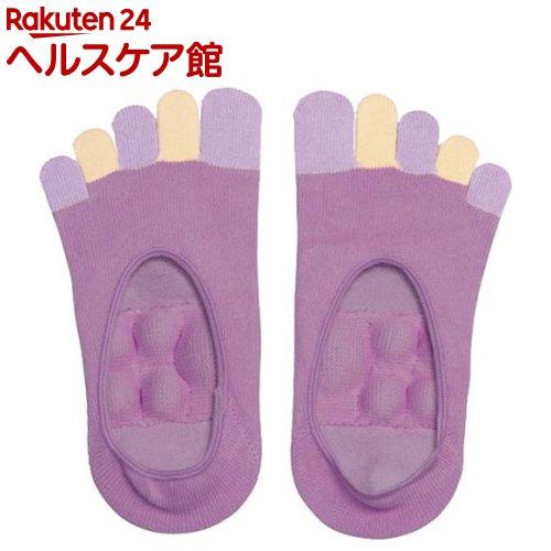 眠れる森の5本指足裏プッシュソックス パープル(1足入)【アルファックス】