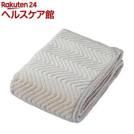 京都西川 綿シャーリング敷きパッド ダブルサイズ ベージュ 5C-PT6104D(1枚入)