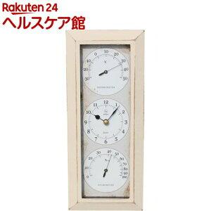 温湿度計付き Antique Clock 壁掛け用 タテ アイボリー YT-902(1台)