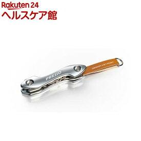 SIDE デザインキーホルダー Design Key Port カギ3枚収納 シルバー ブラウン S002(1コ入)