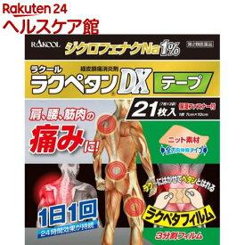 【第2類医薬品】ラクペタンDXテープ(セルフメディケーション税制対象)(21枚入)【ラクペタン】