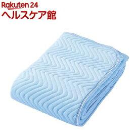 京都西川 綿シャーリング敷きパッド ダブルサイズ ブルー 5C-PT6104D(1枚入)