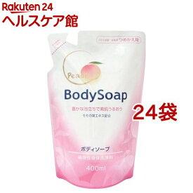 第一石鹸 桃の葉ボディソープ 詰替用(400ml*24袋セット)