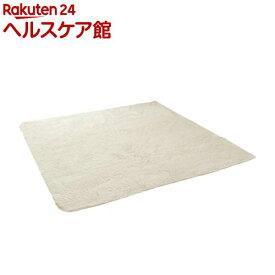 イケヒコ フィリップ ラグマット 185*185cm アイボリー 床暖、ホットカーペット対応(1枚入)