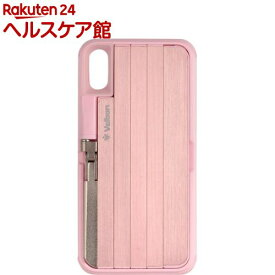 ベルボン 自撮り棒付きスマートフォンケース QYCS-V102 ピンク iPhoneX対応(1個)【ベルボン】