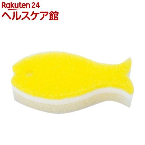 マーナ おさかなスポンジ ライトイエロー K170Y(1コ入)【マーナ】
