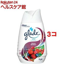 グレード ソリッドエアフレッシュナー フレッシュベリー(170g*3コセット)【more20】【グレード(Glade)】