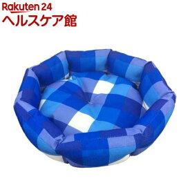 ペットプロ ラウンドベッド S マリンチェック(1コ入)【zaiko_20】【zaiko_20_more】【ペットプロ(PetPro)】