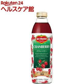 デルモンテ クランベリー20%(750ml*6本入)【spts1】【デルモンテ】