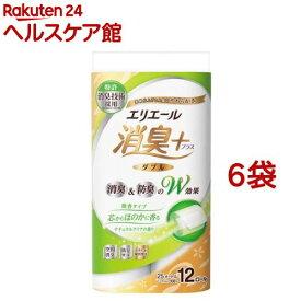 エリエール 消臭+ トイレットティシュー ダブル(12ロール*6袋セット)【エリエール】