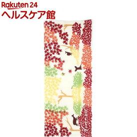 ヴァーテックス 霜月(11月) 紅葉と鹿 注染手ぬぐい VTX94081(1枚入)