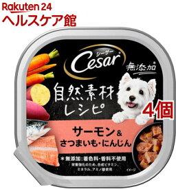 シーザー 自然素材レシピ サーモン&さつまいも・にんじん(85g*4個セット)【シーザー(ドッグフード)(Cesar)】