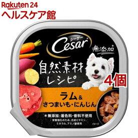 シーザー 自然素材レシピ ラム&さつまいも・にんじん(85g*4個セット)【シーザー(ドッグフード)(Cesar)】