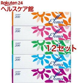 エルモア ティシュー 400枚(200組)(5箱入*12セット)【エルモア】[ティッシュ]