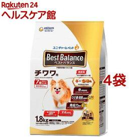 ベストバランス チワワ用 7歳以上用(1.8kg*4袋セット)【ベストバランス】