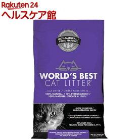 猫砂 ワールドベストキャットリッター マルチキャットクランピング<ラベンダー>(6.35kg)【ワールドベストキャットリッター(WBCL)】