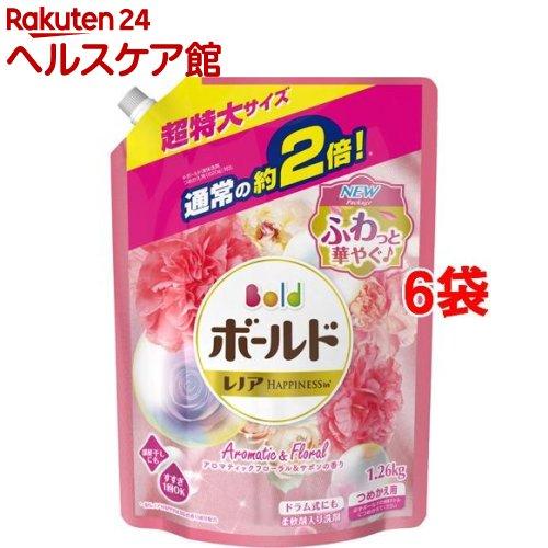 ボールド アロマティックフローラル&サボンの香り 詰替え用 超特大(1.26kg*6コセット)【ボールド】[ボールド 詰め替え]【送料無料】