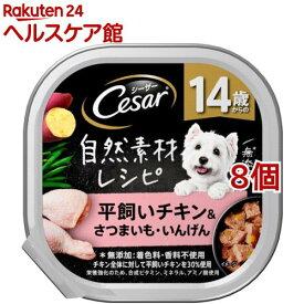 シーザー 自然素材レシピ 14歳からの 平飼いチキン&さつまいも・いんげん(85g*8個セット)【シーザー(ドッグフード)(Cesar)】