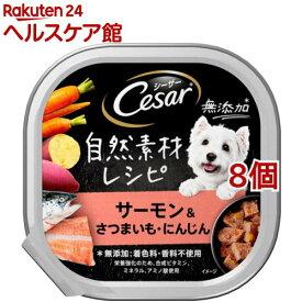 シーザー 自然素材レシピ サーモン&さつまいも・にんじん(85g*8個セット)【シーザー(ドッグフード)(Cesar)】