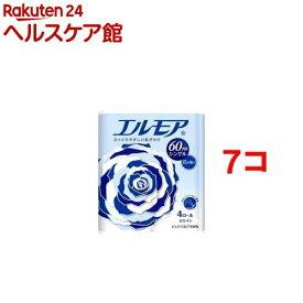 エルモア トイレットロール 花の香り ホワイトシングル 60m(4ロール*7コセット)【エルモア】[トイレットペーパー]