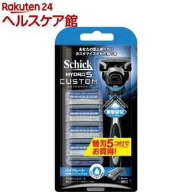 シック ハイドロ5カスタム ハイドレート コンボパック 替刃5コ付(1セット)【シック】