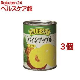 ブルースカイ パインアップル スライス 3号缶(565g*3コセット)[缶詰]