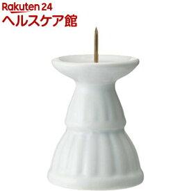 ローソク立て ミニ陶器白磁(1コ入)【日本香堂】
