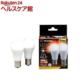 アイリスオーヤマ LED電球 E17 広配光2P 電球色 40形 440lm LDA4L-G-E17-4T62P(2個入)【アイリスオーヤマ】