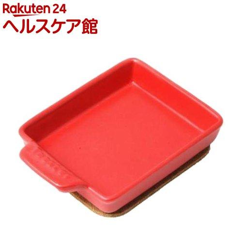 ケデップ トースタープレート Sサイズ フラット レッド TO-013(1コ入)【ケデップ】