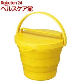 ソフトバケツ8L フタ付 イエロー(1コ入)