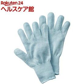 シルク混おやすみ手袋 サックス(1双組)