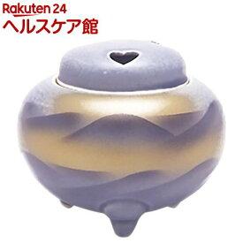 香炉 清爽 平丸連山(九谷焼)(1個)【日本香堂】