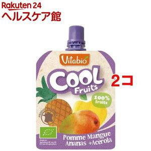 【訳あり】ヴィタビオ クールフルーツ アップル・マンゴー・パイナップル(90g*2コセット)【ヴィタビオ】