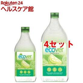 エコベール 食器用洗剤 レモン 本体+詰替用セット(4セット)【エコベール(ECOVER)】