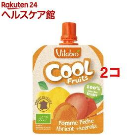 【訳あり】ヴィタビオ クールフルーツ アップル・ピーチ・アプリコット(90g*2コセット)【ヴィタビオ】