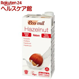 エコミル 有機ヘーゼルナッツミルク 無糖(1L)【エコミル(EcoMil)】