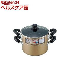 おおらか鍋 IH対応 二段蒸し器 20cm OR-7131(1コ入)