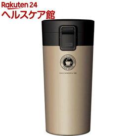 ASVEL 真空断熱携帯タンブラー TL370 ゴールド(1コ入)【ASVEL(アスベル)】