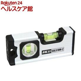 SK11 アルミレベル100スリム マグネット付 SALS10M-2(1個)【SK11】