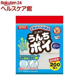 ゴン太 うんちをポイ 石けんの香り付き(200枚入)【ゴン太】