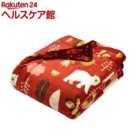 西川 わた入り毛布 ぬくもりの森シリーズ 2CR4503 レッド(1枚入)【ぬくもりの森】