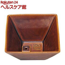 縁 香器 飴釉色(1コ入)【日本香堂】