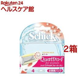 シック クアトロ4 フォーウーマン 替刃(4コ入*2箱セット)【シック】